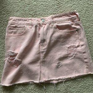 Pink Pacsun Denim Skirt